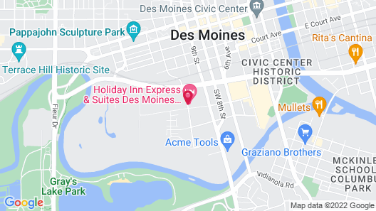Holiday Inn Express & Suites Des Moines Downtown, an IHG Hotel Map