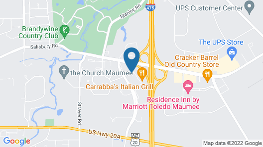 Best Western Toledo South Maumee Map