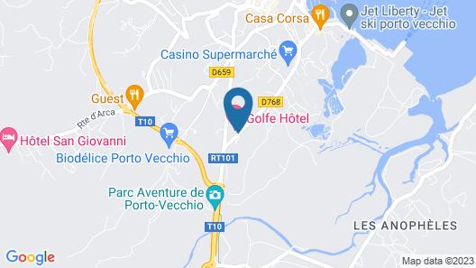 Golfe Hôtel Map