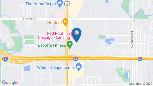 Extended Stay America Suites Chicago Lansing Map