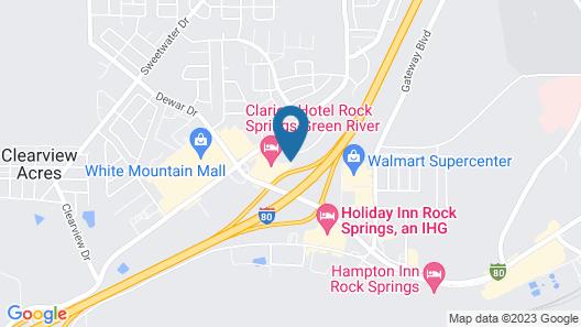 Comfort Inn & Suites Rock Springs - Green River Map