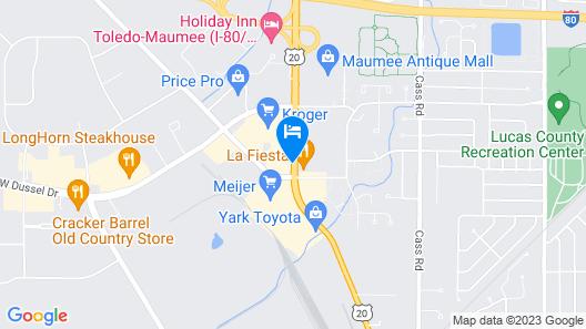 Hampton Inn ToledoSouth/Maumee Map