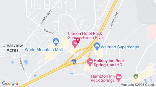 Motel 6 Rock Springs, WY Map