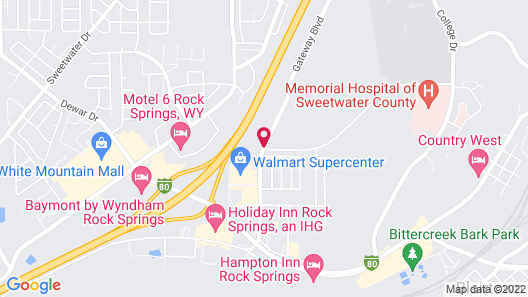 My Place Hotel-Rock Springs, WY Map