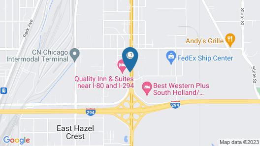 Motel 6 Harvey, IL Map