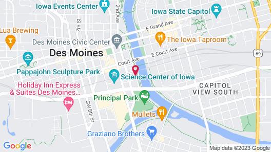 Residence Inn Des Moines Downtown Map