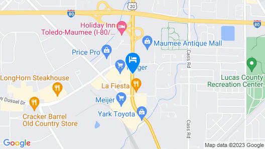 Comfort Inn Maumee - Perrysburgh Area Map