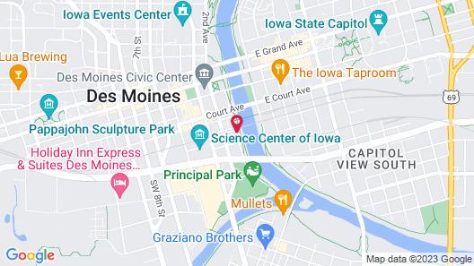 Hampton Inn & Suites Des Moines Downtown Map