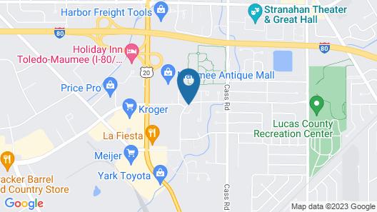 Americas Best Value Inn Maumee Toledo Map
