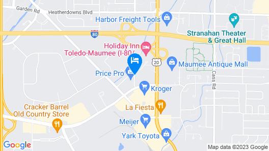 Holiday Inn Toledo-Maumee (I-80/90) Map