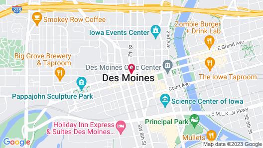 Des Moines Marriott Downtown Map