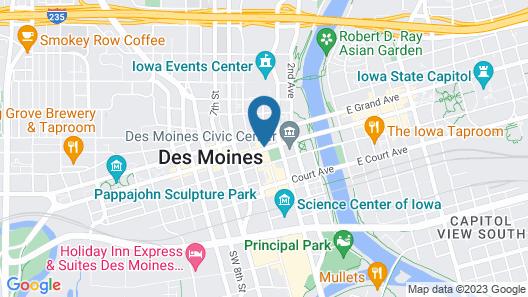 Renaissance Des Moines Savery Hotel Map
