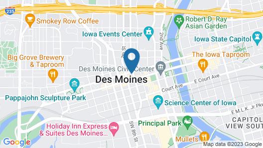Hyatt Place Des Moines Downtwn Map
