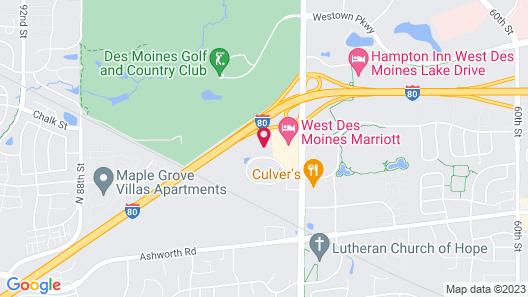 Sonesta Simply Suites Des Moines Map