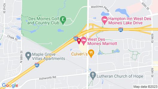 Motel 6 West Des Moines, IA Map
