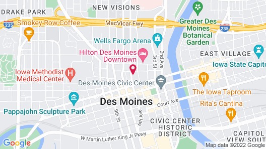 Kasa Des Moines Downtown Apartments Map