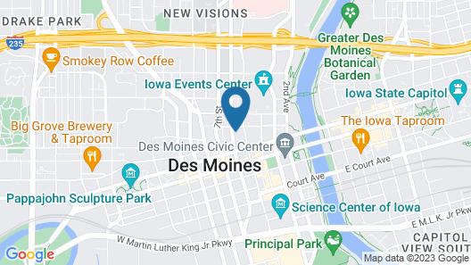 Kasa Des Moines Downtown Apartments Map