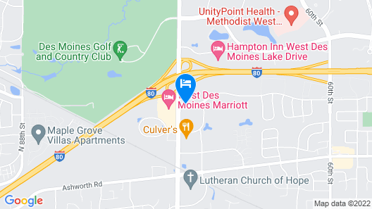 Fairfield Inn and Suites by Marriott Des Moines West Map