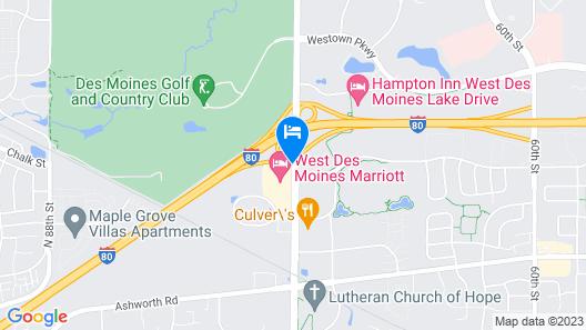 SpringHill Suites Des Moines West Map