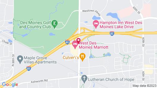 West Des Moines Marriott Map