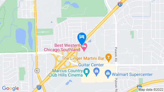 Best Western Chicago Southland Map