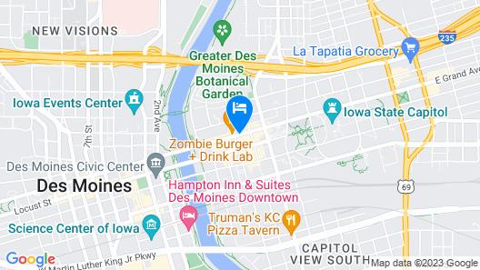AC Hotel Des Moines East Village Map
