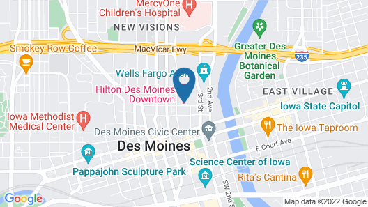Hilton Des Moines Downtown Map