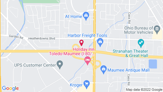 Motel 6 Toledo, OH Map