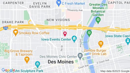 Fairfield Inn & Suites by Marriott Des Moines Downtown Map