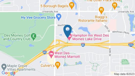 Hampton Inn West Des Moines Lake Drive Map