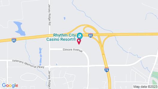 Rhythm City Casino and Resort Map
