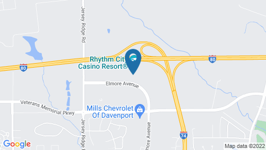 Rhythm City Casino and Resort Map