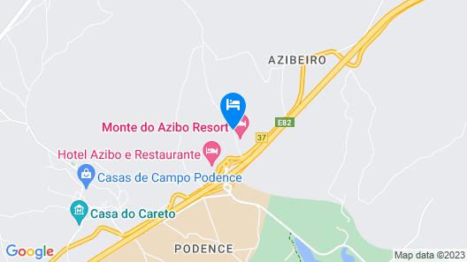 Monte do Azibo - Caravan Park Map