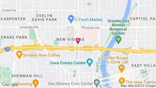 Holiday Inn Downtown - Mercy Area, an IHG Hotel Map