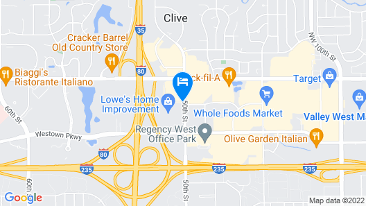 Sheraton West Des Moines Hotel Map