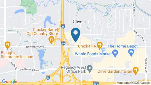 Super 8 by Wyndham Clive/W Des Moines Map