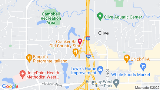 Country Inn & Suites by Radisson, Des Moines West, IA Map