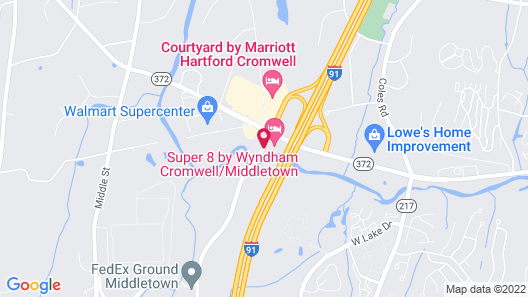 Super 8 by Wyndham Cromwell/Middletown Map