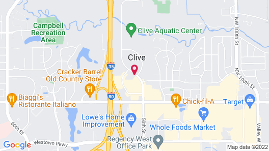 Courtyard by Marriott Des Moines West Clive Map