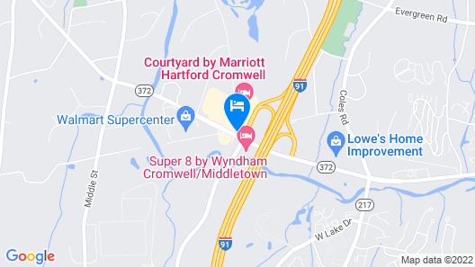 Courtyard by Marriott Hartford Cromwell Map