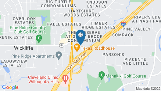 Motel 6 Willoughby, OH - Cleveland Map