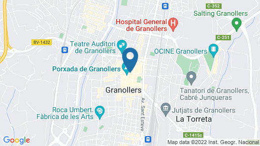 Apartamento Granollers Map