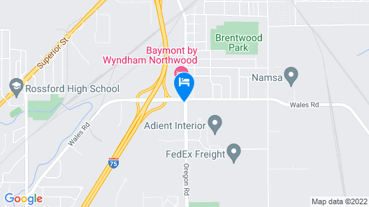 Americas Best Value Inn & Suites Northwood Toledo Map