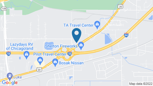Comfort Inn & Suites Near Indiana Dunes State Park Map