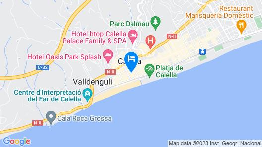 Hotel Les Palmeres Map