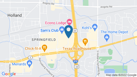 Quality Inn Toledo Airport Map