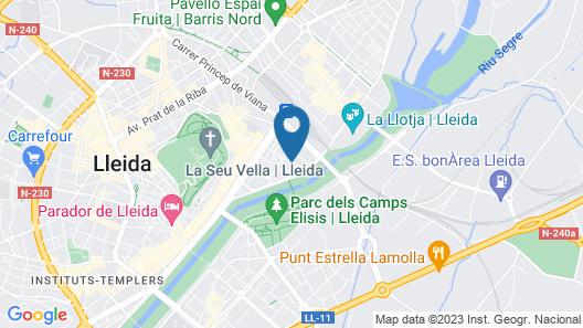 Hotel Zenit Lleida Map