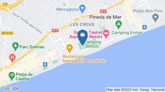 Camping Sènia Caballo de Mar Map