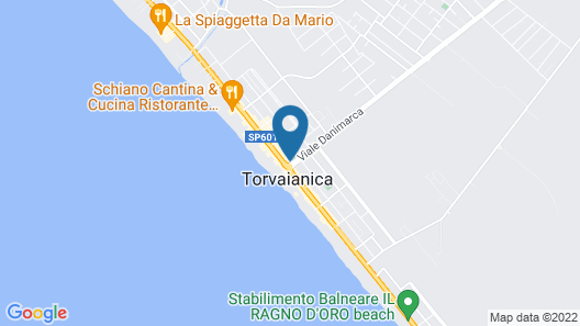 Hotel Torvaianica Map