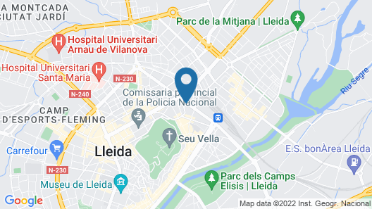 Apartamentos Real Lleida Map